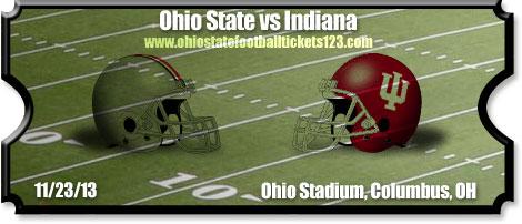 Ohio State Buckeyes Vs Indiana Hoosiers Football Tickets