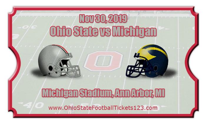 Ohio State Buckeyes Vs Michigan Wolverines Football Tickets